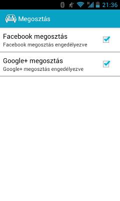 Oszkár Android App - Megosztások