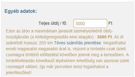 Budapest-Pécs max. útdíj
