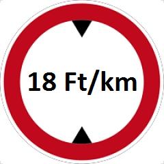 Max 18 Ft/km