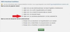 Várólista jelentkezést követően felszabaduló helyről SMS értesítés beállítása