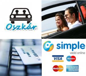 Online fizetés az Oszkár telekocsin