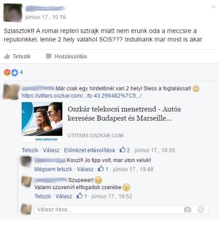 Segítseg a facebookon